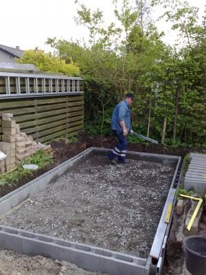 Lage fundament til drivhus